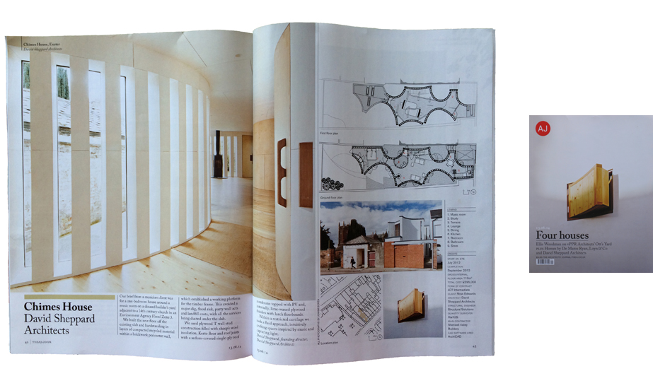 Article on Chimes in the Architects Journal, Jun 2014