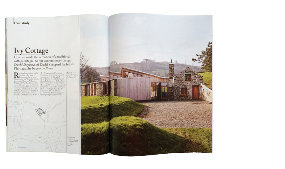 Article in the 27 June 2014 issue of the Architects Journal, on IvyCottage
