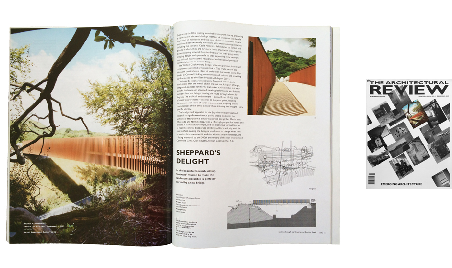Article on William Cookworthy Bridge in The Architectural Review, Dec 2005