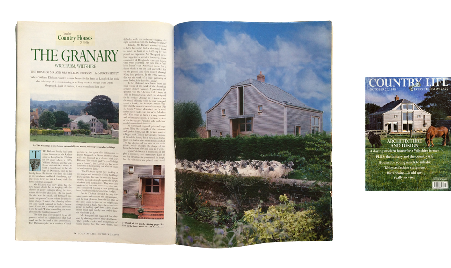 Article on Downton in Country Life, October 1998